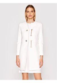 Biały płaszcz przejściowy Rinascimento