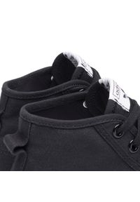 Czarne trampki Adidas z cholewką, na platformie