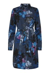 Niebieska sukienka Desigual koszulowa