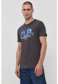 Jack & Jones - T-shirt bawełniany x Space Jam. Kolor: szary. Materiał: bawełna. Wzór: nadruk