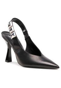 Czarne sandały Just Cavalli wizytowe, z aplikacjami