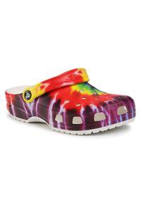 Crocs Klapki Classic Tie Dye Graphic Clog 205453 Kolorowy. Wzór: kolorowy