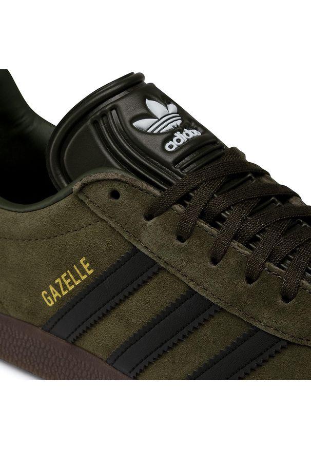 Zielone buty sportowe Adidas Adidas Gazelle, z cholewką