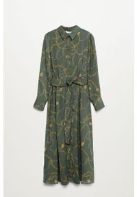 Sukienka mango na co dzień, z długim rękawem, midi, prosta