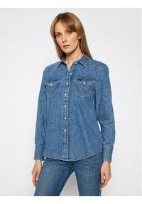 Wrangler Koszula jeansowa Western W5WSLW31S Niebieski Regular Fit. Kolor: niebieski. Materiał: jeans