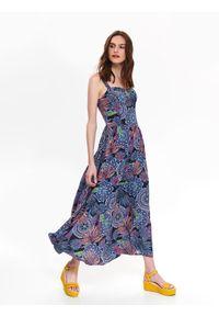 Fioletowa sukienka TOP SECRET na lato, na co dzień, gorsetowa