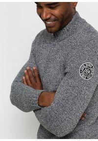 Czarny sweter bonprix melanż