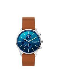 Brązowy zegarek Skagen casualowy