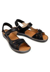 Łukbut - Sandały ŁUKBUT - 637-001 Czarny. Kolor: czarny. Materiał: skóra. Sezon: lato #5