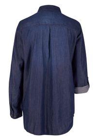 Niebieska tunika bonprix długa, z długim rękawem