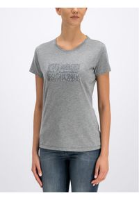 Napapijri T-Shirt Sefro N0YIK2 Szary Regular Fit. Kolor: szary