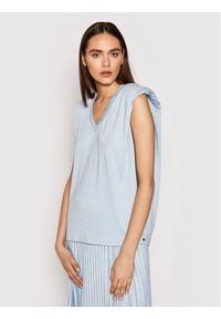 Nissa Bluzka TOP12143 Niebieski Regular Fit. Kolor: niebieski
