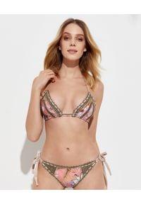 DEL MAAR - Top od bikini Naya. Kolor: różowy, fioletowy, wielokolorowy. Materiał: materiał