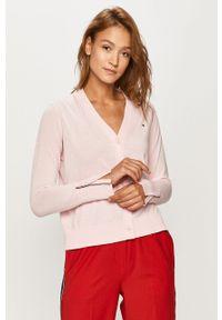 Różowy sweter rozpinany TOMMY HILFIGER