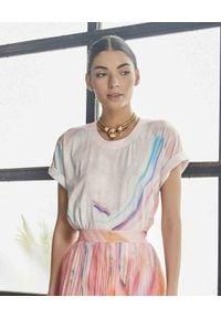 ROCOCO SAND - Pastelowy t-shirt. Kolor: fioletowy, różowy, wielokolorowy. Materiał: bawełna