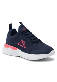 Kappa - Sneakersy KAPPA - Pendo 243026 Navy/Orange 6744. Okazja: na co dzień. Kolor: niebieski. Materiał: materiał. Szerokość cholewki: normalna. Sezon: lato. Styl: casual