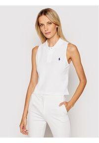 Polo Ralph Lauren Polo Sls 211838096002 Biały Regular Fit. Typ kołnierza: polo. Kolor: biały