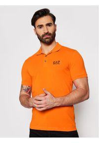 Pomarańczowa koszulka polo EA7 Emporio Armani polo
