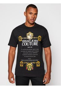 Czarny t-shirt Versace Jeans Couture