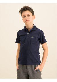 Niebieski t-shirt polo Lacoste polo