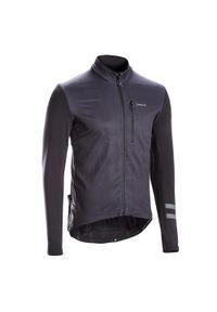 TRIBAN - Bluza rowerowa Triban RC500. Kolor: czarny. Materiał: poliester, materiał, elastan. Długość rękawa: długi rękaw. Długość: długie. Sezon: zima. Sport: wspinaczka, kolarstwo