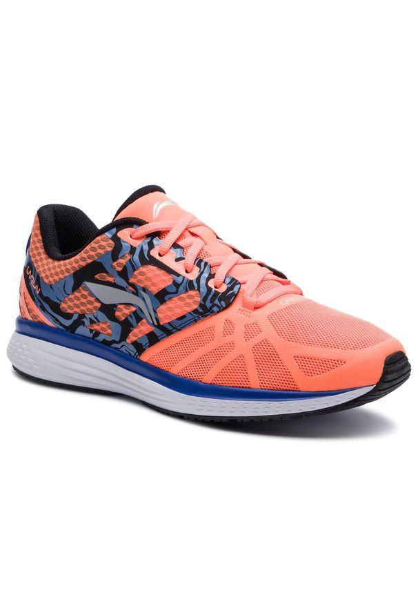 Pomarańczowe buty do biegania Li-Ning z cholewką