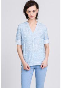 Niebieska koszula Monnari na lato, casualowa, z długim rękawem