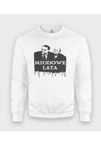 MegaKoszulki - Bluza klasyczna Miodowe Lata. Kolor: pomarańczowy. Sezon: lato. Styl: klasyczny