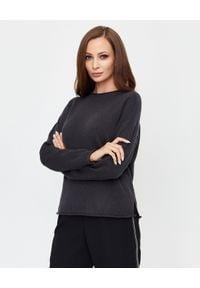 PESERICO - Antracytowy wełniany sweter. Kolor: szary. Materiał: wełna. Długość rękawa: długi rękaw. Długość: długie. Styl: klasyczny