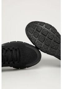 Czarne sneakersy Under Armour z cholewką, do biegania, na sznurówki