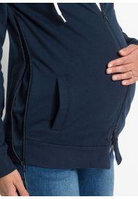 Bluza rozpinana ciążowa z wstawką na nosidełko niemowlęce bonprix ciemnoniebieski. Kolekcja: moda ciążowa. Kolor: niebieski