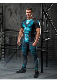 Koszulka sportowa FJ! na fitness i siłownię, z krótkim rękawem, z nadrukiem, krótka
