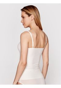 Chantelle Top Soft Stretch C10620 Beżowy Slim Fit. Kolor: beżowy. Materiał: elastan, poliamid