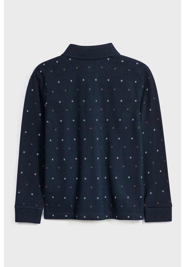 Niebieski t-shirt polo Mayoral casualowy, polo, na co dzień