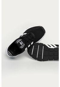 Czarne sneakersy adidas Originals z cholewką, do biegania, na sznurówki, z okrągłym noskiem #4