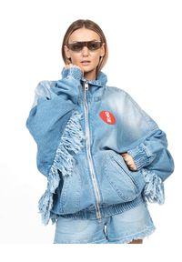 ROBERT KUPISZ - Jeansowa kurtka oversize Orient Rising Sun Jeans. Kolor: niebieski. Materiał: jeans. Wzór: nadruk, aplikacja
