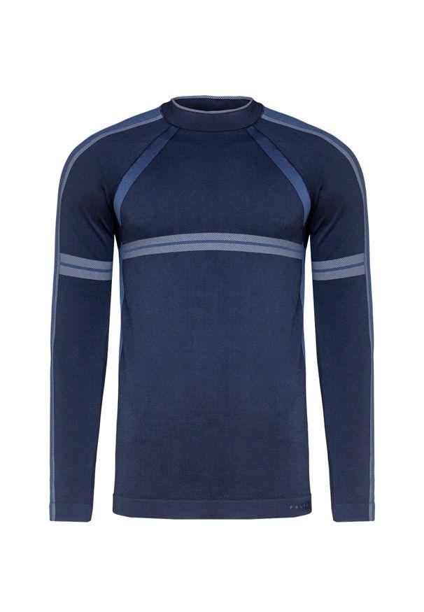 Niebieska koszulka termoaktywna Falke z nadrukiem
