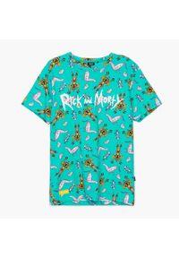 Cropp - Koszulka z nadrukiem Rick and Morty - Turkusowy. Kolor: turkusowy. Wzór: nadruk