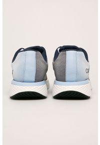 Niebieskie sneakersy Calvin Klein Jeans na sznurówki, z cholewką