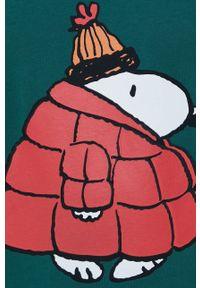Mc2 Saint Barth - MC2 Saint Barth - Longsleeve bawełniany x Peanuts. Okazja: na co dzień. Kolor: zielony. Materiał: bawełna. Długość rękawa: długi rękaw. Wzór: nadruk. Styl: casual