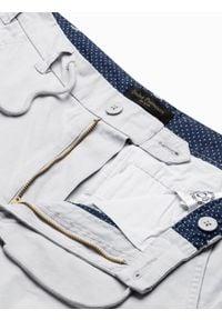 Ombre Clothing - Spodnie męskie joggery P893 - szare - XXL. Kolor: szary. Materiał: bawełna, elastan. Wzór: aplikacja #8