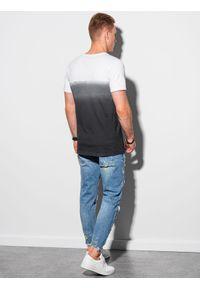 Ombre Clothing - T-shirt męski bawełniany S1380 - czarny - XXL. Kolor: czarny. Materiał: bawełna. Sezon: lato
