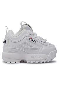 Fila Sneakersy Disruptor F Infants 1010826.1FG Biały. Kolor: biały