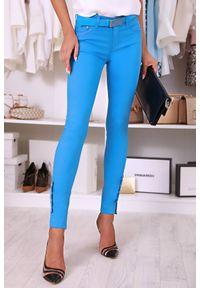 Niebieskie spodnie IVET biznesowe, na co dzień