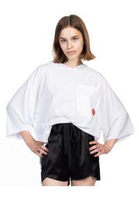 ROBERT KUPISZ - Biały t-shirt ORIENT RISING SUN. Kolor: biały. Materiał: bawełna. Styl: sportowy