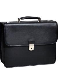 """Torba MCKLEIN Skórzana teczka biznesowa Mcklein Ashburn 15145 na laptopa 15,4"""" męska czarna. Kolor: czarny. Materiał: skóra. Styl: biznesowy"""