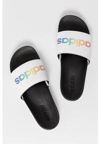 Adidas - adidas - Klapki ADILETTE. Kolor: biały. Materiał: guma