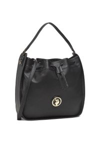 U.S. Polo Assn - Torebka U.S. POLO ASSN. - Brookshire Hobo Bag BEUBS5066WVP000 Black. Kolor: czarny. Materiał: skórzane. Styl: klasyczny