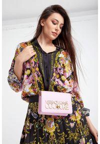 Torebka Versace Jeans Couture z haftem, z aplikacjami, zdobiona