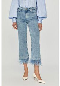 Niebieskie jeansy bootcut TwinSet klasyczne, z podwyższonym stanem